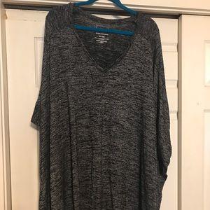 Black/gray poncho